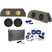 Dual 10 Kicker Subwoofers+Sub Box+Amp+Wires For 2010-2015 Chevrolet Camaro