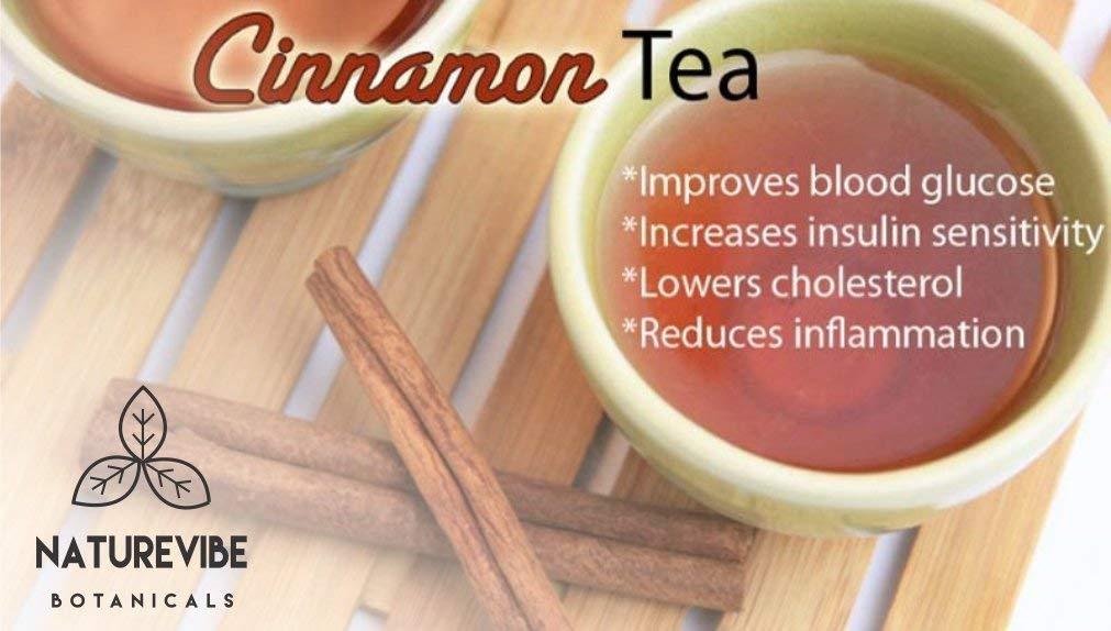 Premium Quality Organic Ceylon Cinnamon Powder (1/2 lb) by Naturevibe Botanicals, Raw, Gluten-Free & Non-GMO (8 ounces)