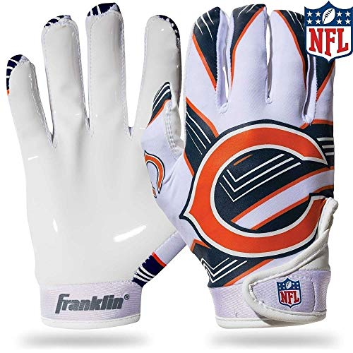 Franklin Sports NFL Chicago Bears Youth Football Receiver Gloves - Medium/Large