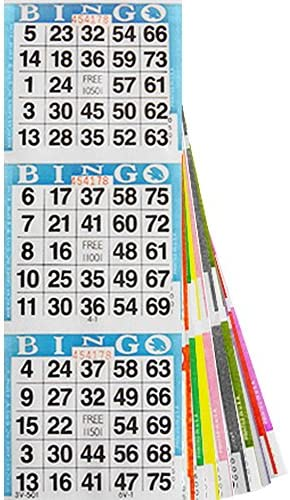 NATIONAL BINGO Assorted 3 on 20 Bingo Paper