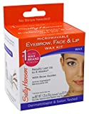 Sally Hansen Microwaveable Eyebrow, Face & Lip Wax Kit (Pack of 3)