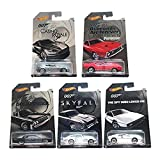 Hot Wheels 2015 exclusive James Bond 007 collection bundle of 5 diecast cars
