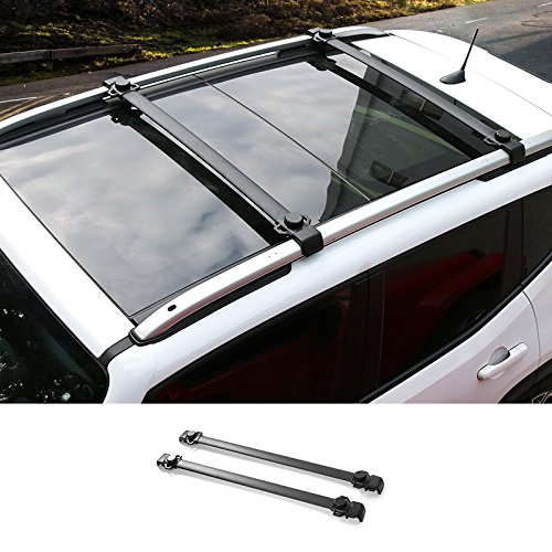 Pair Car Roof Rack Cross Bars Luggage Carrier for Jeep Renegade -  KUJOOY