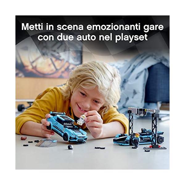 LEGO Speed Champions - Panasonic Jaguar Racing GEN2 e Jaguar I-PACE eTROPHY Modelli che Corrono in Formula E con 2… 3 spesavip