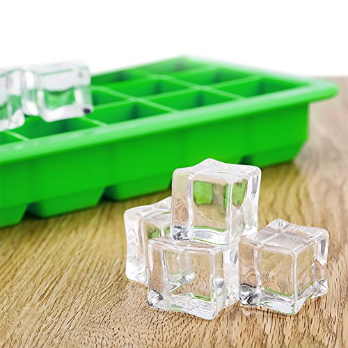 Korlon 3 Pack Silicone Ice Cube Trays with Lid - Easy Release Ice Cube Mold Containers - Silicone Ice Cube Maker for Cocktail Whiskey, 21 Shaped Cubes Each with Cover