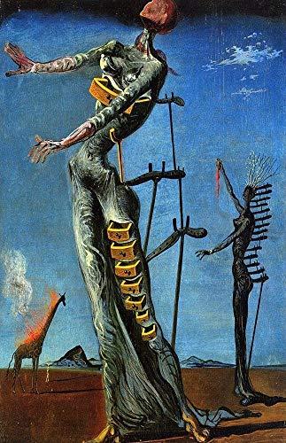 (154094 Salvador Dali The Burning Giraffe Art Decor Wall 36x24 Poster Print)