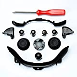 Custom Mod Kit for Xbox 360 Controller Thumbsticks, Dpad, RB LB, ABXY, Trim, Triggers, Guide, T8 Security Driver Black
