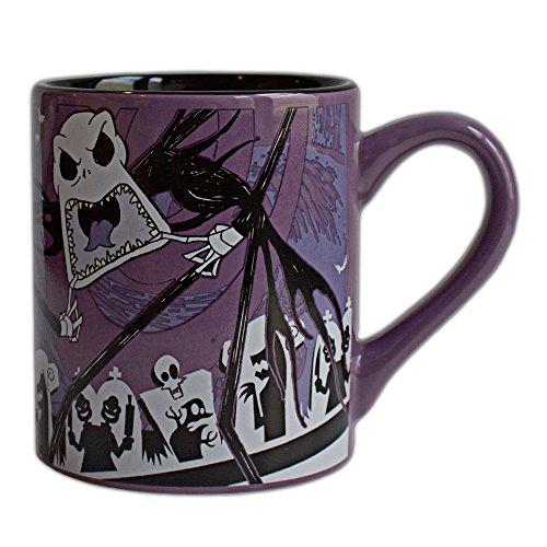 Disney NB9332 Nightmare Before Christmas Jack Scary Face Ceramic Mug, 14-Ounces, -