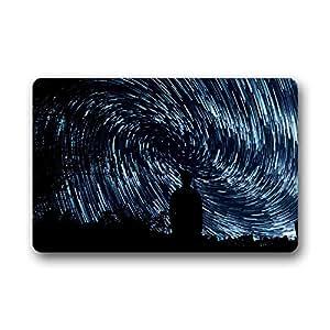 """Forheart Stars Felpudo de goma antideslizante personalizado para interior y exterior (23,6"""" x 15,7"""")"""