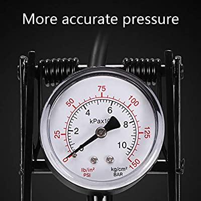 for Bikes Motorbikes Balls Ourleeme High Pressure Pump Bike Double-Cylinder with Pressure Gauge Foot Pump with Air Pipe Most Cars Tyres