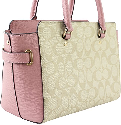 COACH WITH APPLIQUE F31194 KHAKI SIGNATURE BLAKE LIGHT 25 CANVAS FLORAL IN CARRYALL qwUqYrg
