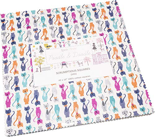 Poodle & Doodle Scrumptious Squares 42 10-inch Squares Layer Cake Lewis & Irene ()