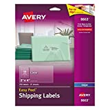 Avery Clear Easy Peel Shipping Labels for Inkjet Review and Comparison
