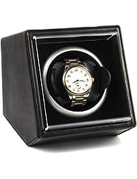 Single Watch Winder PU Black Leather Dual Power, 4 Rotation Mode Setting, Fit Man Automatic Watch …