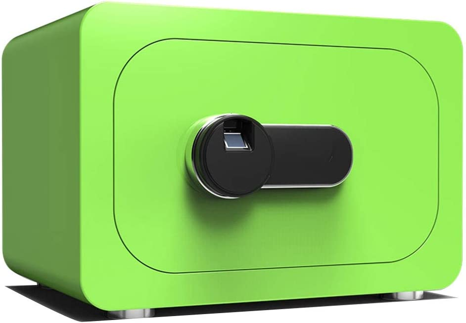金庫 ホームセキュリティ安全な指紋ロックまたはスワイプオープンスチールダブルレイヤーグリーン40 * 30 * 28cm Safebox