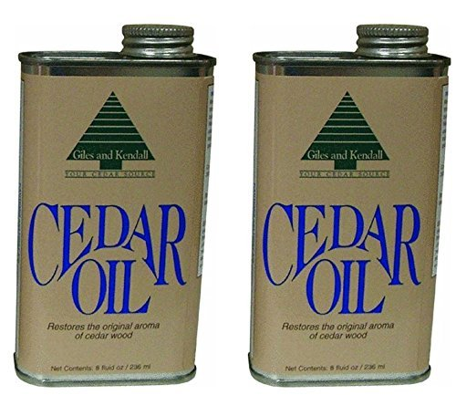 Giles and Kendall Cedar Oil Restores the Original Aroma of Cedar Wood, 8 Fluid oz / 236 ml - 2 Pack by Giles & Kendall