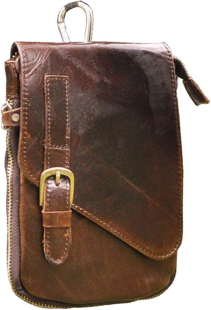 RABILTY Belt Holster Bag Fanny Waist Pack Crossbody Bag for Men Boy Black Nylon Travel Neck Pouch Color : Orange