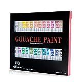 Madisi Gouache Paint Set - 24 Vivid Colors, 12 ML Tubes
