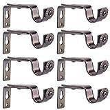 Creatyi Set of 8 Bronze Curtain Rod Brackets for 3/4 or 5/8 Inch Rod