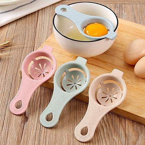 Küche Gadget, Küchenzubehör, Gut 10 PCS Stroh Kunststoff-Ei-Separator-Weiß Yolk Sifting Home Küche Essen Kochen Gadget (Weizenmehl) (Color : Wheat Flour) Wheat Blue