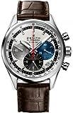 Zenith El Primero 36000 VPH Slver Dial Brown leather Mens Watch 03.2150.400/69.C713