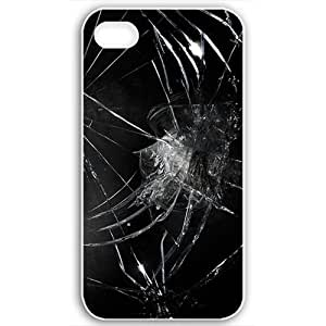 Apple Apple iPhone 4 4S Cases Customized Gifts Fors 3D Graphics Broken Black Glass 3d Abstract White