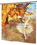 The Star - Ballerina Fabric Novelty Shower Curtain - Museum Collection by artist Edgar Degas