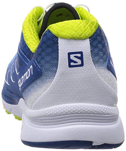 Salomon Sense Manatra 3 Herren Traillaufschuhe Blau (gentiane / Methylblauw / Gecko Groen)