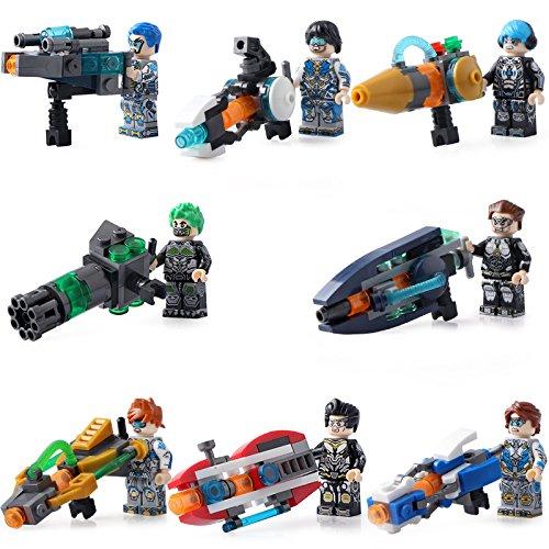 Commando Special Forces (2017 8PCS military personnel Flying fighter commando special forces weapons building blocks toys Compatible LegoINGlys)