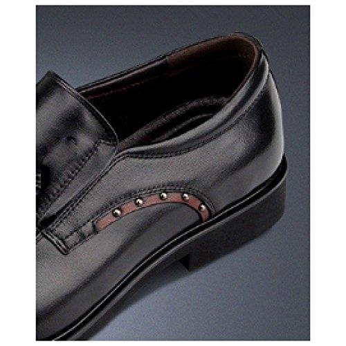 Chaussures Chaussures Cuir Respirant NIUMJ en Hommes Coupe Black Simples Basse Cuir Britannique Affaires ZBAOPq
