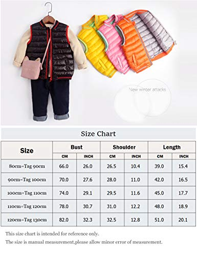 Zipper Girls Sleeveless Autumn 3 BESBOMIG Winter Boys Body Warmer 8 Black Outerwear for Jacket Down Children Year Gilet Vest Waistcoat Coats 1qaSW7qFw
