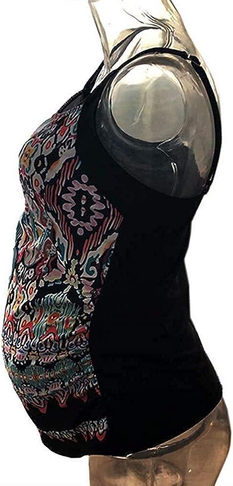 Saoye Fashion 2020 Umstandsbademode Bikini Damen Umstandstankini Tankinis Maternity Swimwear Umstandsbadeanzug Schwangerschafts Fiesta Kleidung Umstands Bademode Streifen S 4XL