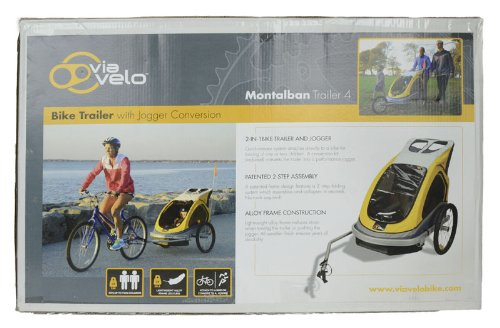 Baby Bike Trailer >> Via Velo Montalban 4 Bike Trailer with Jogger Kit - Buy Online in UAE. | Baby Products Products ...