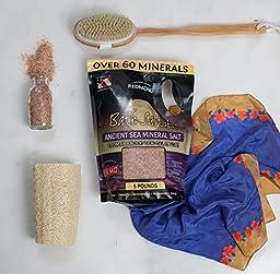 Redmond Bath Salt Plus, Ancient Sea Mineral Salt From an Ancient Dead Sea in Utah, 5 Lbs. Bulk Bag