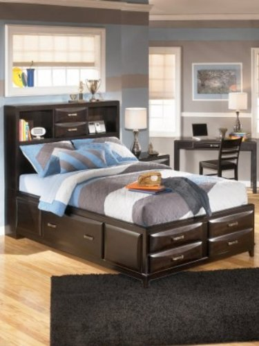 Signature Design by Ashley B473-74 Kira Full Storage Footboard, Almost Black by Signature Design by Ashley