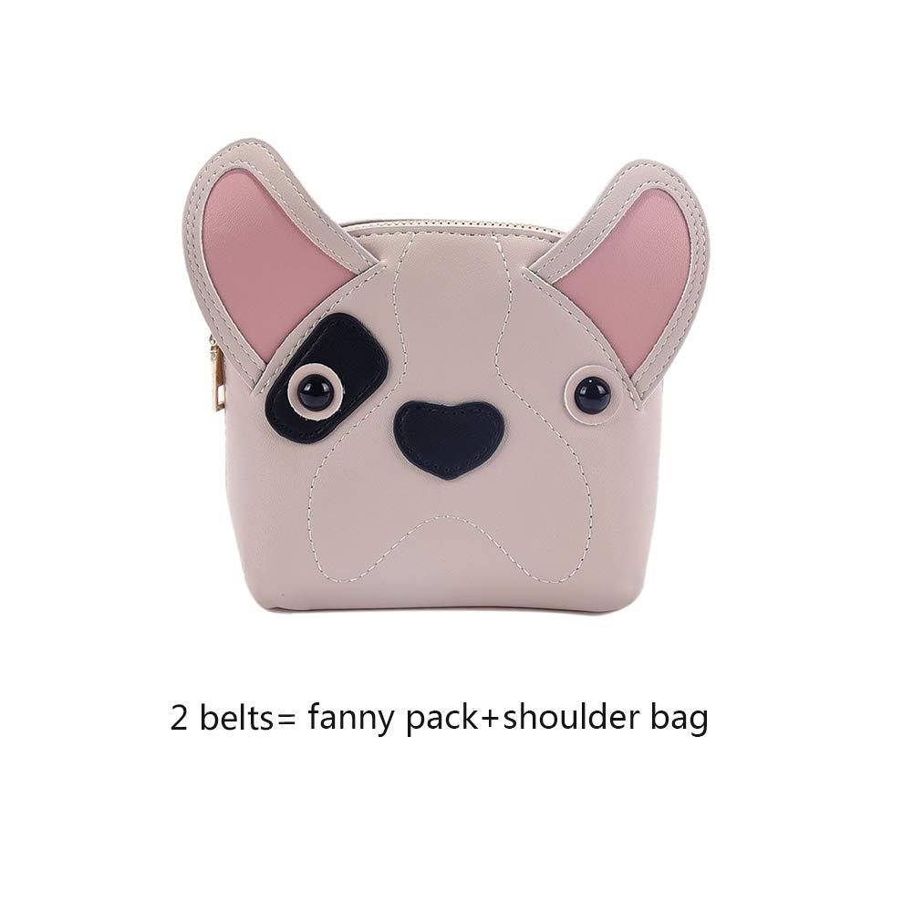 98980da46047 Fashion Cute Fanny Pack Dog Shape Leather Crossbody Shoulder Bag for Kids  Girls