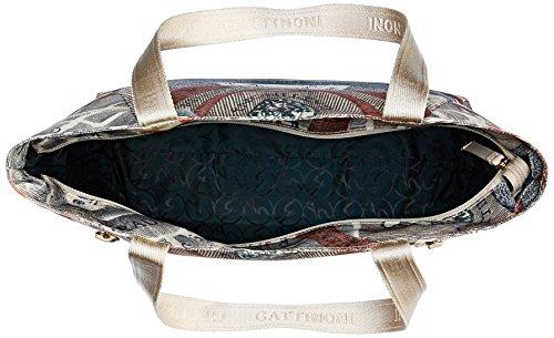 Gattinoni Gacar0000041, Borsa a Spalla Donna, 14x32x40 cm Multicolore (Cipria)