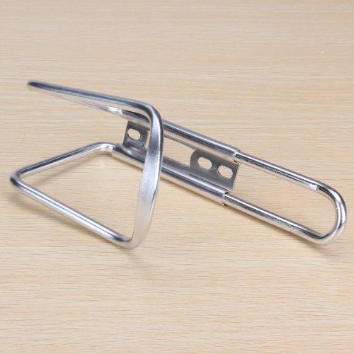 Silber-Ton Aluminium Fahrradlenker Wasserflasche Wasserkocher Rack K/äfighalter