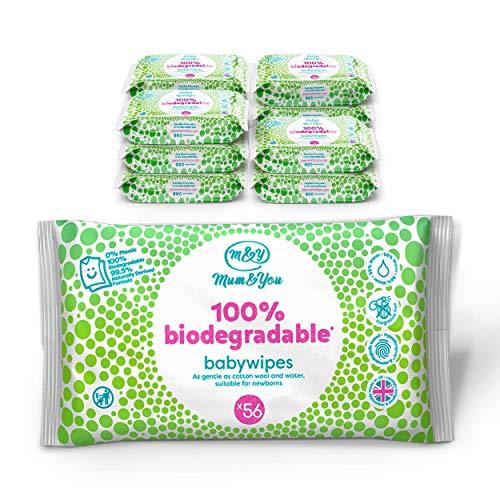 🥇 Mum & You Toallitas Húmedas Para Bebés 100% Biodegradables