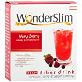 WonderSlim Low-Carb High Fiber Drink/Supplement Mix - Very Berry (10 Servings/Box) - Low Carb, Sugar Free, Low Calorie, Fat Free