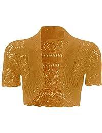 F&F Kids Girls Short Sleeve Knitted Crochet Bolero Shrug Cardigan