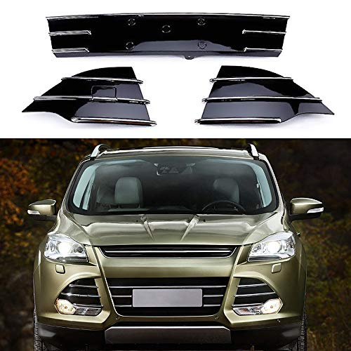 MOTORFANSCLUB Chrome Trim Front Lower Grille for Ford Escape Kuga SE 2013-2016 Grill Fog Cover (3pcs) ()