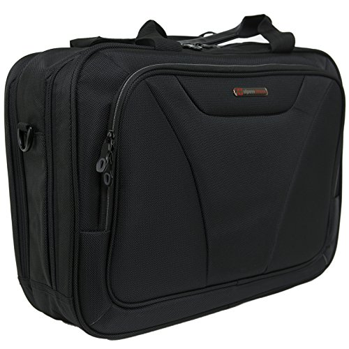 Alpine Swiss Cortland 15.6″ Laptop Bag Organizer Briefcase Black