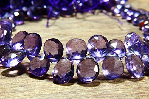 7' Full Strand Natural Amethyst Gemstone Faceted Pear Shape, Size 5x6mm-8x6mm, Gemstone Beads