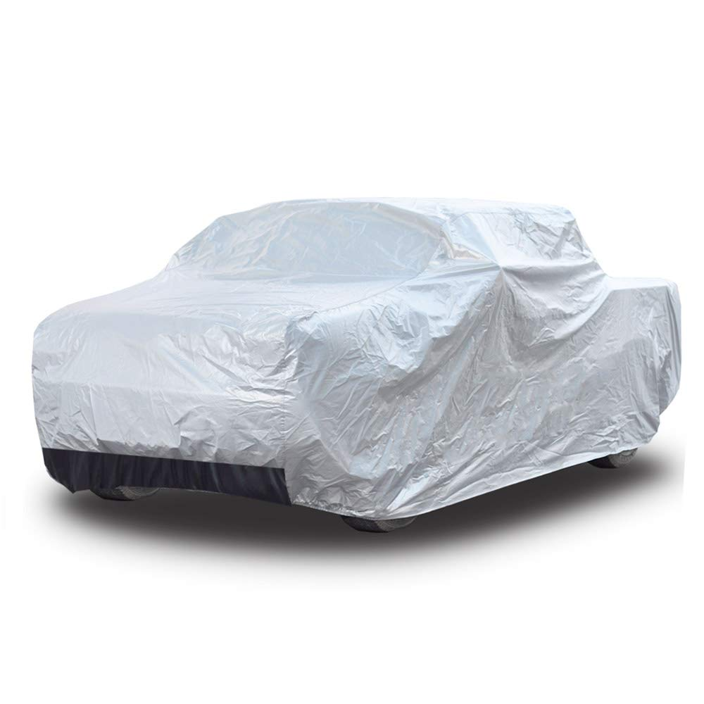 Kayme Four Layers Truck Cover Waterproof All Weather with Cotton Sun Uv Rain Protection for Automobiles Outdoor, Truck Pickup Fit Up to 232'', L