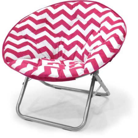 225 lbs Capacity Saucer Folding Chair Plush Chevron in Pink by Mainstays