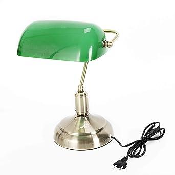 Oubaylew Nostalgische Bankerlampe Finish Aus Antikmessing Grunen