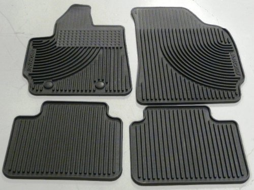 Oem Factory Stock 2011-2012 11 12 Black Ford Escape Weather Rubber Vinyl Floor Mats by Ford (Image #1)