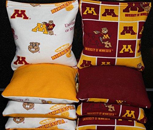 CORNHOLE BEAN BAGS University of Minnesota Golden Gophers Tailgate Game 8 Bags