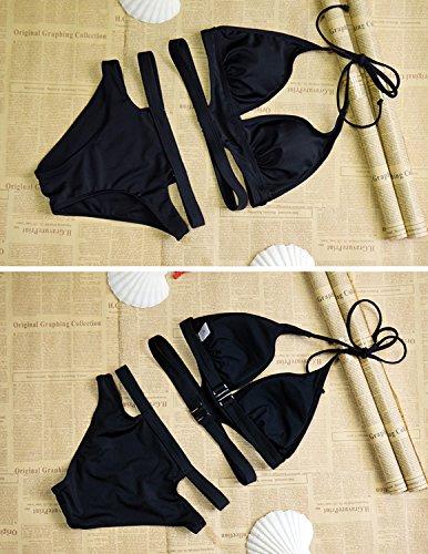 Sitengle Mujeres Vendaje Cruzado Atractivas Tejido Bra Ropa Playa Swimwear Bikini Beachwear Multicolor